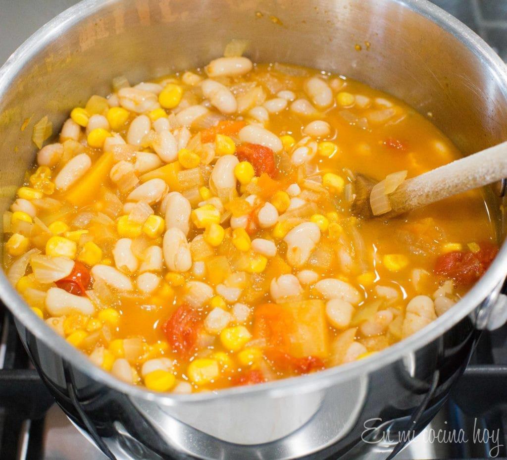 Bean Stew Porotos Granados