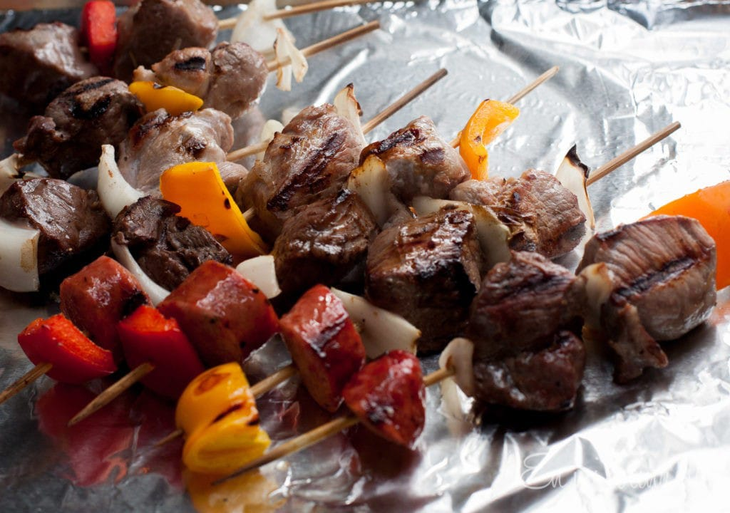 Chilean Anticuchos or Skewers