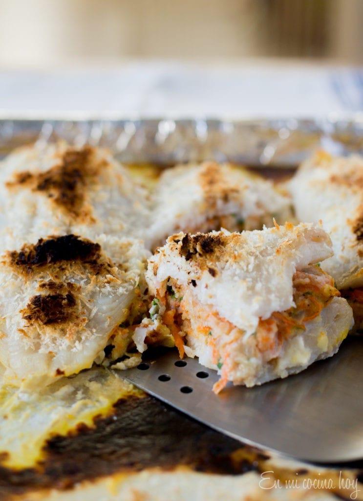 Pescado relleno, receta chilena
