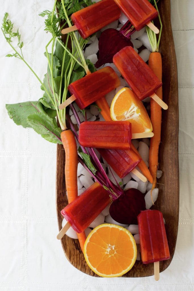 Vampiro Paletas: Beet, Carrot and Orange juice