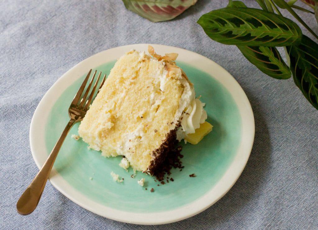 Torta de piña con crema
