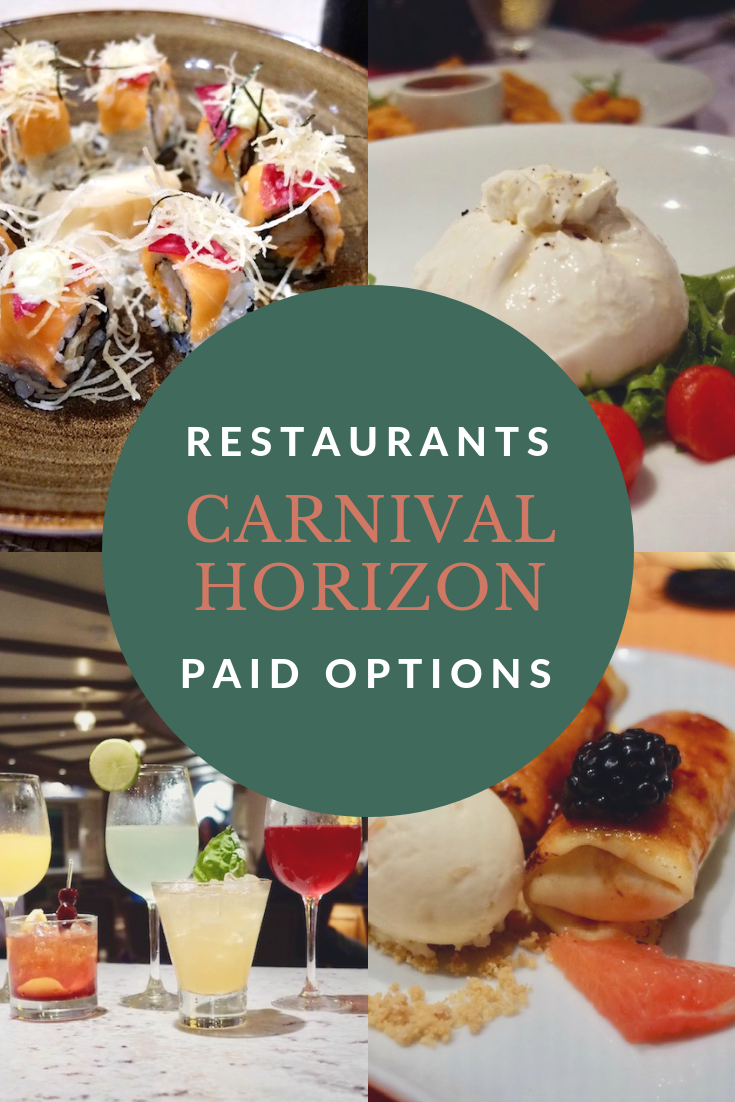 Carnival Horizon Food and restaurants: Paid options