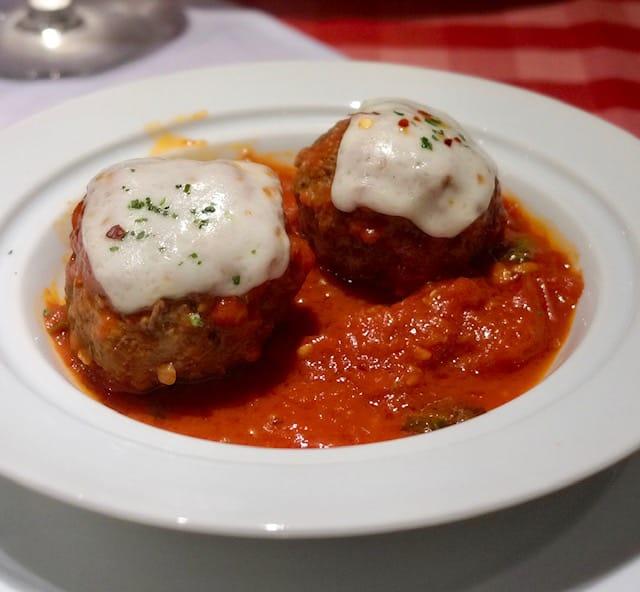 Meatballs, Cucina del Capitano, Carnival Horizon